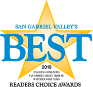 San Gabriel Valley's BEST Award Winner - 2018